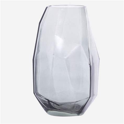 Grey Glass Vase Grey Geometric Glass Vase By Posh Totty Designs Interiors