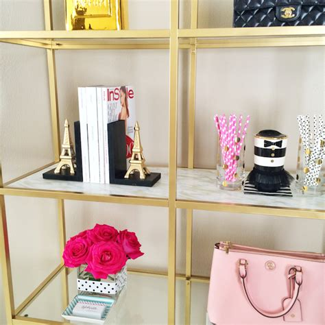 Easy Diy Home Decor Projects Diy Gold And Marble Shelves Bookcase Ikea Hack Stylish