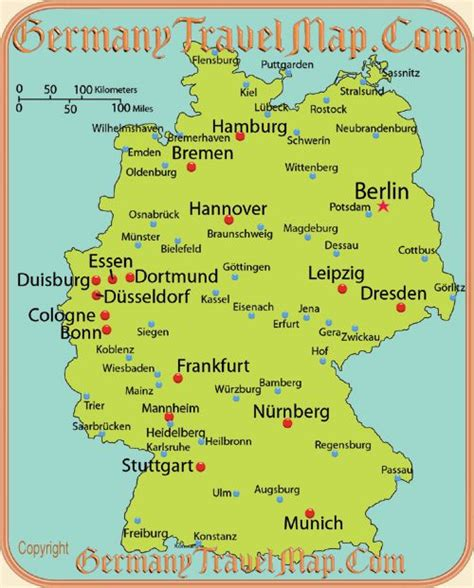 maps of germany with cities and towns map of german cities wanderlust