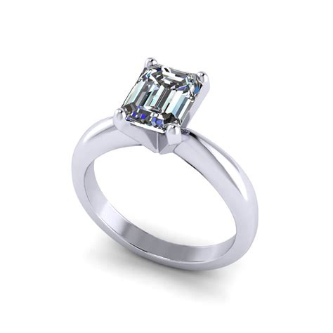 Solitaire Engagement solitaire emerald cut engagement ring jewelry designs