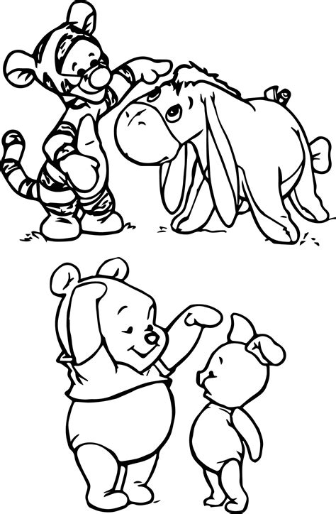 pooh coloring pages sad tigger pages coloring pages