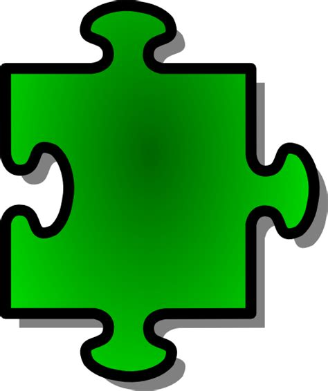 single puzzle piece template