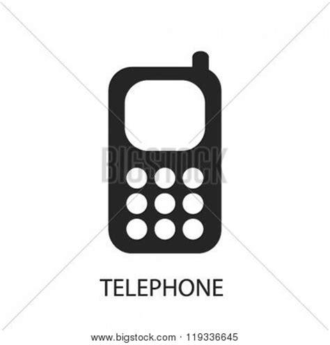 telephone icon, telephone logo, vector & photo | bigstock