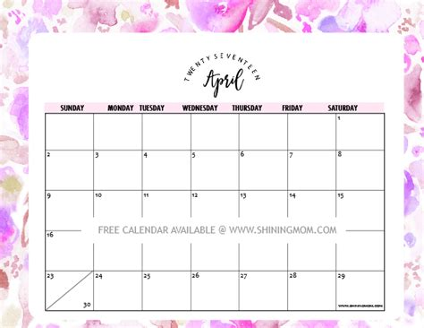 printable calendars pretty printable calendars with designs calendar template 2016