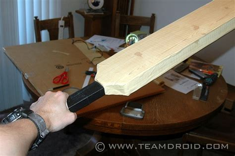 How To Make Paper Cricket Bat - shaun of the dead cricket bat costume make diy