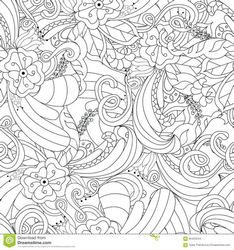pattern background sketch hand drawn doodle pattern in vector zentangle background