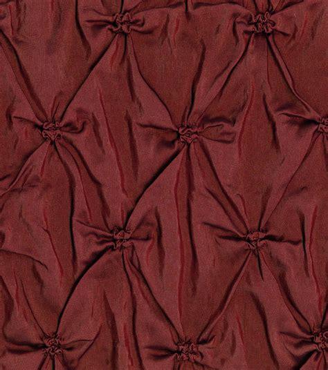 signature home decor signature series home decor solid fabric burgundy pinched