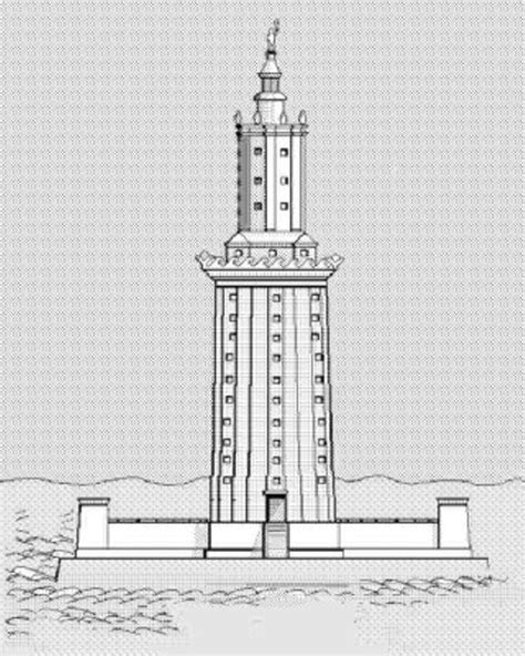 coloring pages of lighthouse of alexandria lighthouse of alexandria coloring page murderthestout