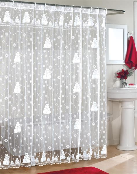 christmas bathroom curtains snowman shower curtain sets comfy christmas