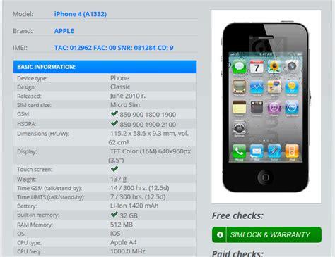 Cek Hp Iphone 4 cara cek imei iphone dan versi ios dengan mudah teknobray