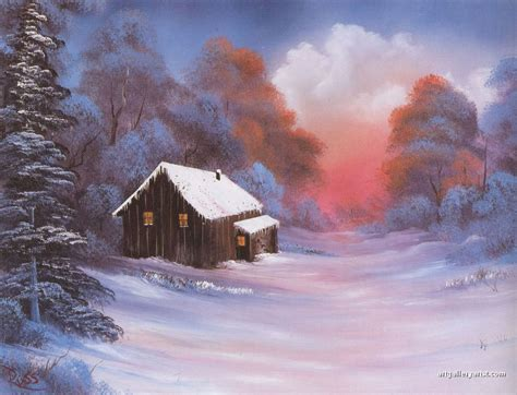 bob ross painting gallery the gallery for gt bob ross winter paintings