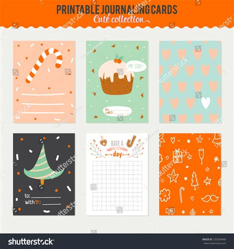 3x4 Note Card Template With Paw Print by Vector Journaling 3x4 Vertical Cards Stock Vector