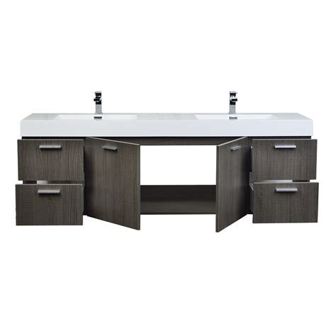 "Buy Monza 71"" Contemporary Double Vanity Set RS DM1810 OAK"