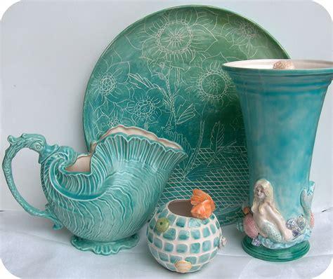 Mermaid Vase by Summerland Cottage Studio Mermaid Ceramic Vase