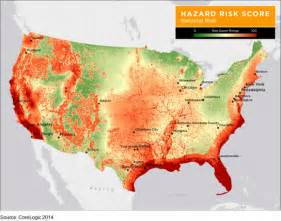 corelogic states ranked by risk of damage from