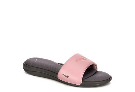 grey nike womens ultra comfort 3 sport slide athletic broadway shoes