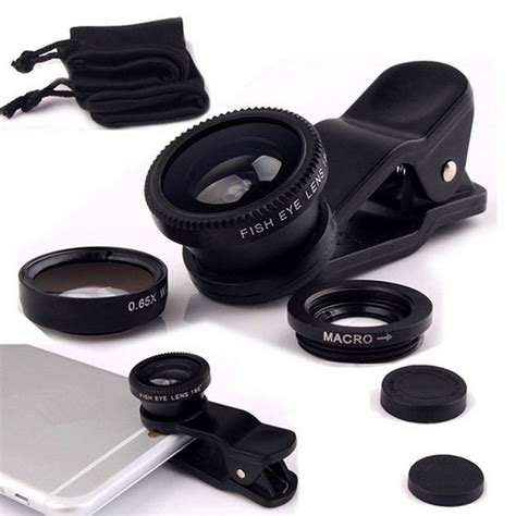 Fish Eye 3 In 1 Colour Fish Eye Warna Limited Fisheye Lens 3 In 1 Mobile Phone Clip Lenses Fish Eye Wide