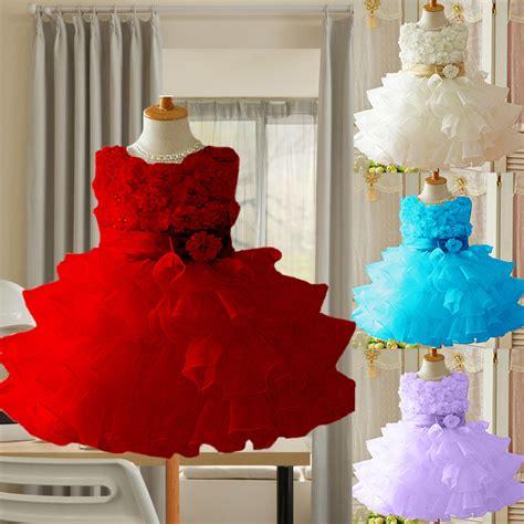 2in1 Flower Tutu Dress Anak buy wholesale 1 year baby birthday dress from