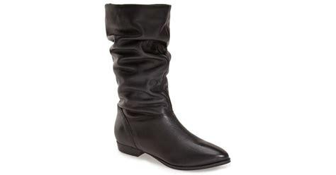 dune relissa scrunch boot in black black