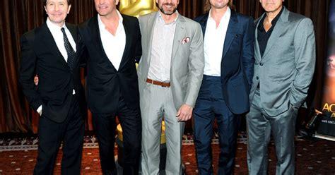 Brad Pitt George Clooney Do Entertainment Weekly by Brad Pitt George Clooney Jean Dujardin Friendly
