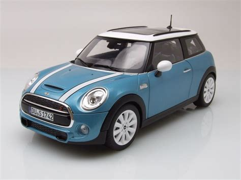 Mini Auto Bmw by Bmw Mini Cooper S 2015 Blau Metallic Modellauto 1 18