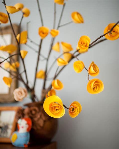 Blumenstrauß Aus Papier Basteln 4726 by Table Centerpiece Using Sticks And Origami Roses