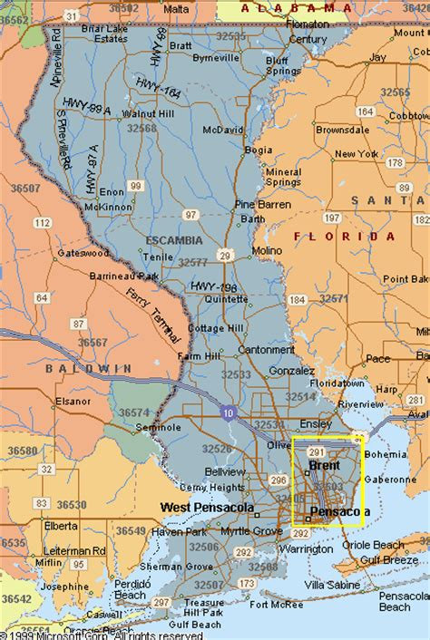 Escambia County Florida Property Tax Records Escambia County Florida Map