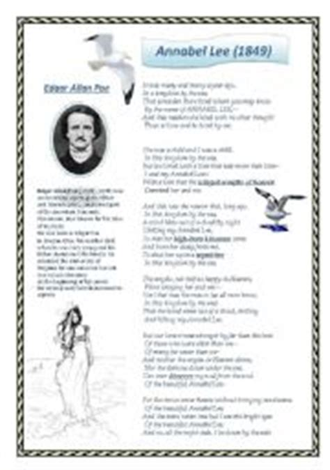 edgar allan poe biography worksheet english teaching worksheets edgar allan poe