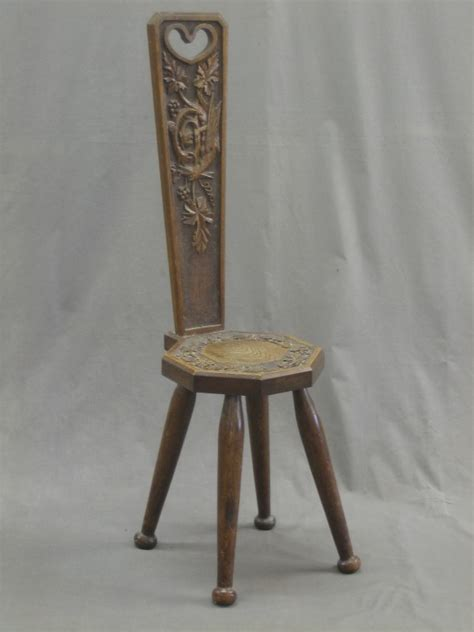 Spinning In A Chair by Lot No 99 A Carved Oak Spinning Chair