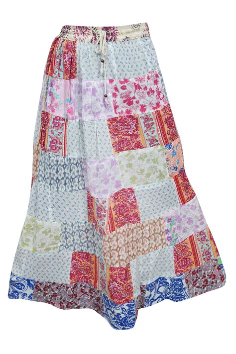 Patchwork Womens - women s vintage indian patchwork skirts mogulinteriorsite