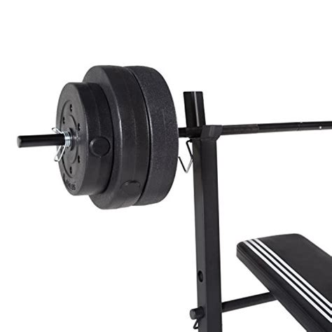 competitor weight bench with 100 pound weight set adidas essential combo training bench with weight set 100 lb barbell academy