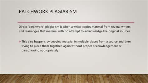 Patchwork Plagiarism - patchwork plagiarism 28 images plagiarism plagiarism