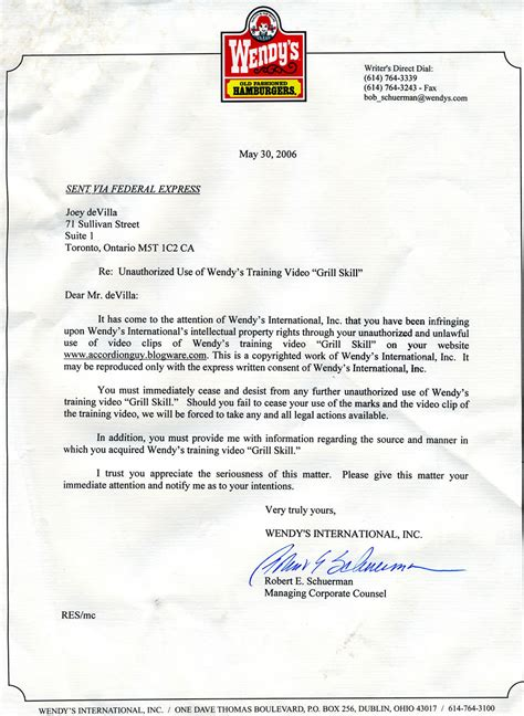 cease and desist letter blast from the past my quot cease and desist quot letter from the