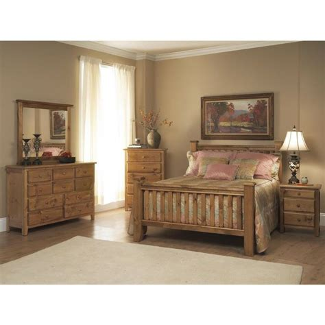 rustic bedroom set emerald pine creek rustic 5 piece bedroom set