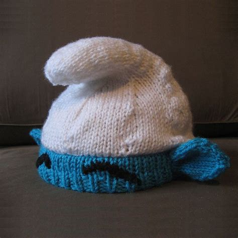 How To Make A Smurf Hat Out Of Paper - smurf hat diy crafts hats knitting and
