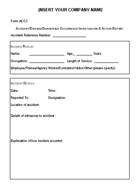 health and safety forms