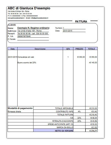 parcella avvocato d ufficio modello fattura regime minimi gestione separata lettera43