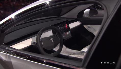 tesla model 3 zeit tesla model 3 innen interior innenraum elektronik zeit de