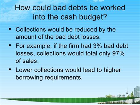 Mba Debt Collection by Working Capital Management Ppt Bec Doms Mba Finance