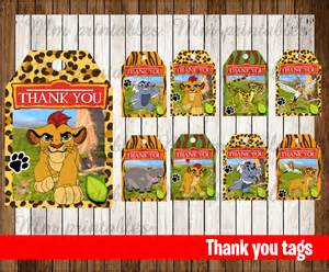 Lion King Birthday Decorations 80 Off Sale The Lion Guard Thank You Tags Instant