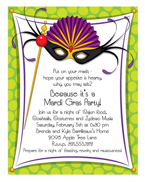 Free Mardi Gras Invitation Templates mardi gras border templates free quotes