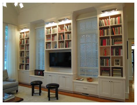 bookcases living room design with best placement