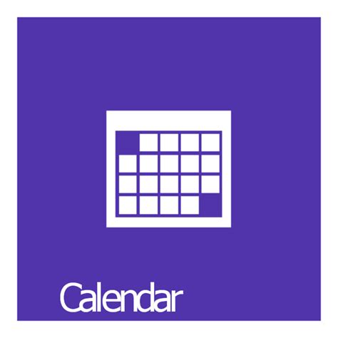 C Calendar Library Windows 8 Apps Vector Stencils Library