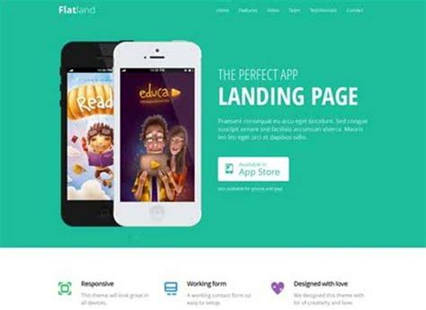 55 High Quality Bootstrap Landing Page Templates Bootstrap App Landing Page Template