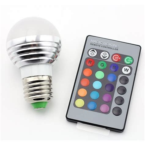 dimmable led l with colour changing base supernight e27 e26 standard base 16 colors changing