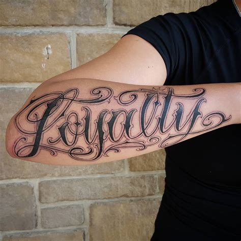 outer arm tattoo custom lettering archives chronic ink