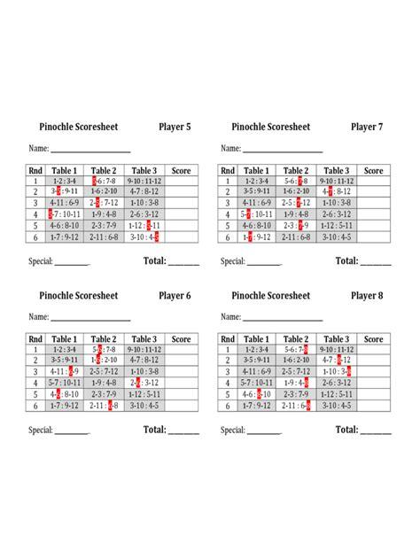pinochle tally cards template pinochle score sheet sle free