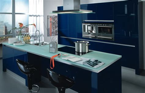 Dark Blue Kitchen by Lovely Kitchen Interior In Blue Tones Home Interior