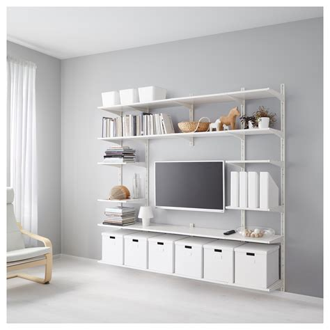 stuva desk and units with forhoja box shelves from ikea algot wall upright shelves white 210x41x197 cm ikea