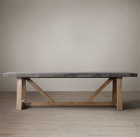 Concrete Table L by Salvaged Wood Concrete Beam Rectangular Dining Table